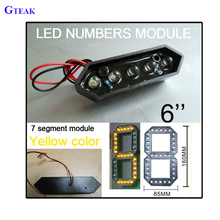remote control 6 inch 7 segment display led multi-color