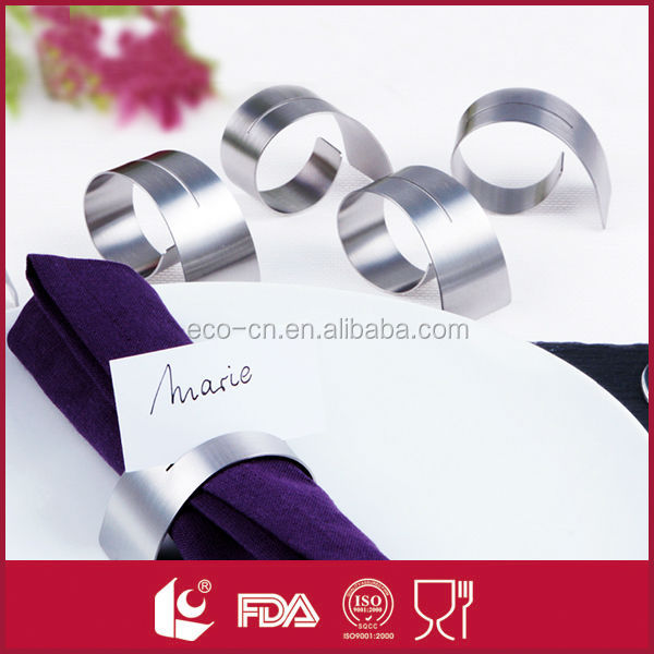 High quality bulk wholesale stainless steel napkin ring