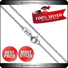 Factory Direct Girls Cheap 925 Sterling Silver Chain Necklace