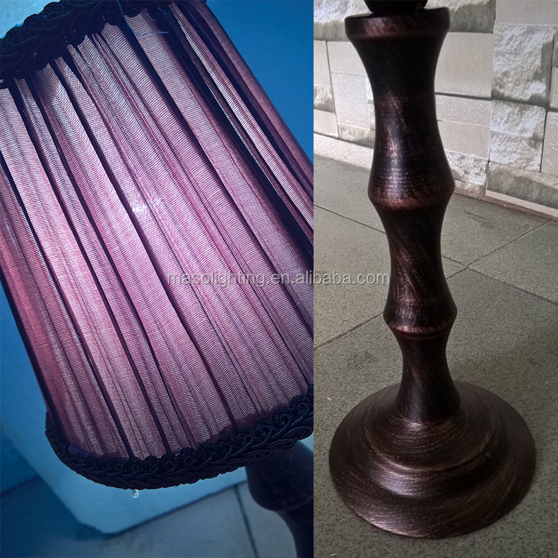 Mini Metal Night Light Bar,club,resturant,cafe,home fancy Vintage antique baking finish Iron Bamboo table lamp E14 Candle light