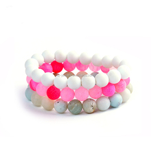 Wholesale Hot Sell Natural Stone Bead Glass Bead Women Stretch Bracelet