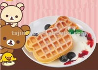 2012 hot selling portable 2 slices waffle cake maker