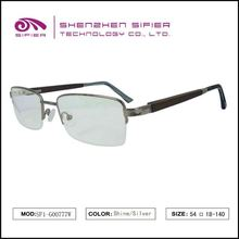 Fashion Manufacture Wholesale Wood Temple Eyewear Frame