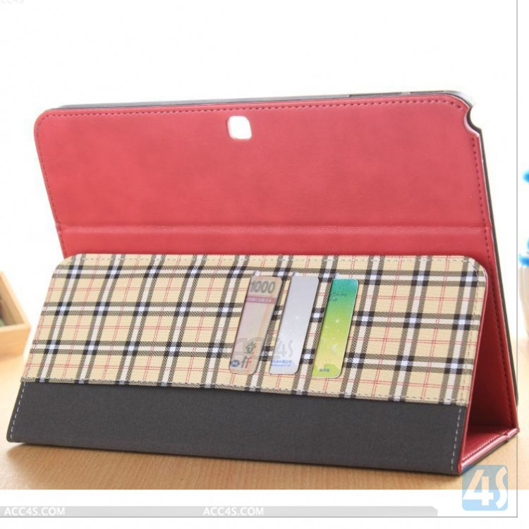 T535 leather Case cover for Samsung Galaxy Tab 4 10.1 P-SAMT535PUCA003