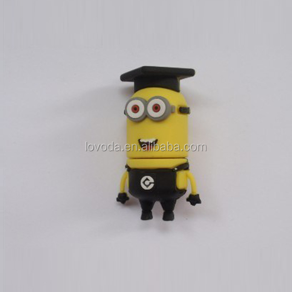 Newest minion usb flash drive,world cup 2014 despicable me 2 Cartoon Robot Design keyword bulk 1GB bargin price USB Flash Drive