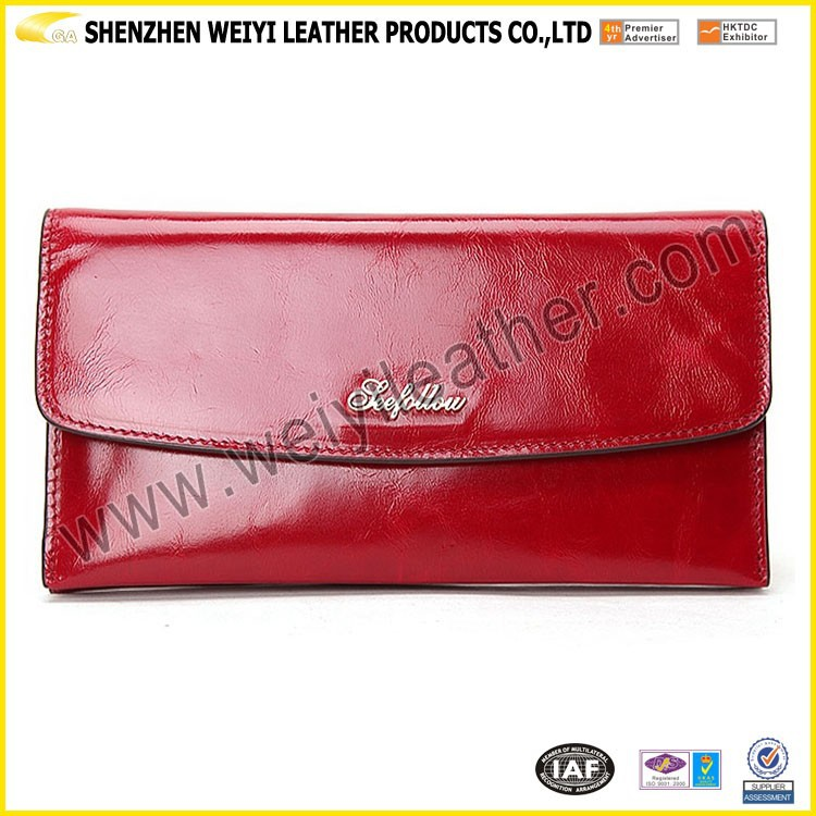 2016 New Simple Cheap Promotional Woman PU Leather Lady Wallet