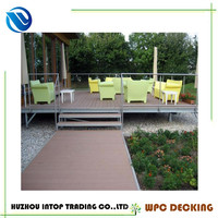 22 x 160mm barefoot friendly outdoor deck floor covering wpc decking flooring