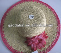 fashion trendy ladies summer hat with flower /dress hat for decoration