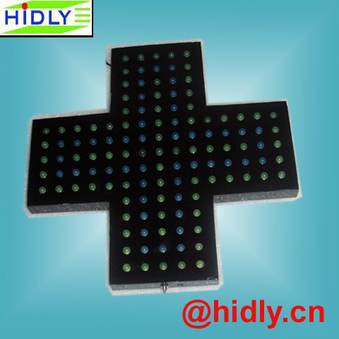 3D outdoor cross signage,3D led pharmacy cross display,hospital signage