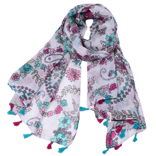 High quality premium manufacture floral indian Paisley scarf shawl