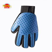 RoblionPet High quality Pet Grooming Glove Gentle Deshedding Brush Glove Pet Grooming Dogs Cats Bath Tools