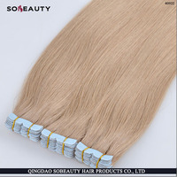 Best Quality Indian 100% Human Good Feedback Tangle Free Factory Price Wholesale seamless double sided tape hair ext