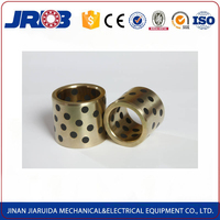 Customized sintered oilite spherical bush with graphite holes for mineral machines