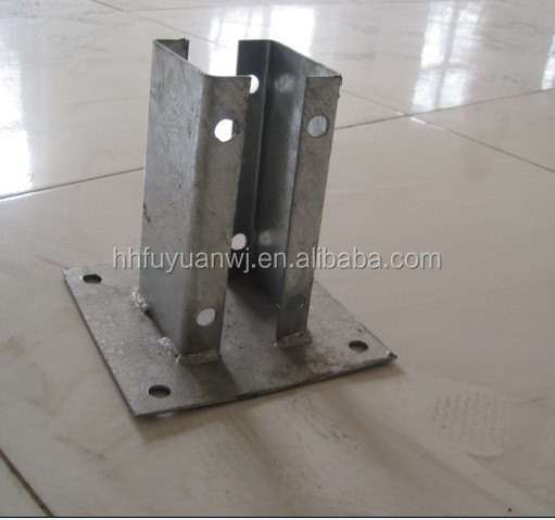 Hot Dip Galvanized Round Steel Fence Post Base Plate