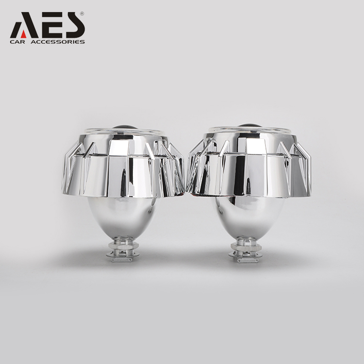 "AES G1 Auto&motorcycle Double led angel eyes hid bi xenon mini 2.5"" size projector lens kit H1 bulbs headlight"