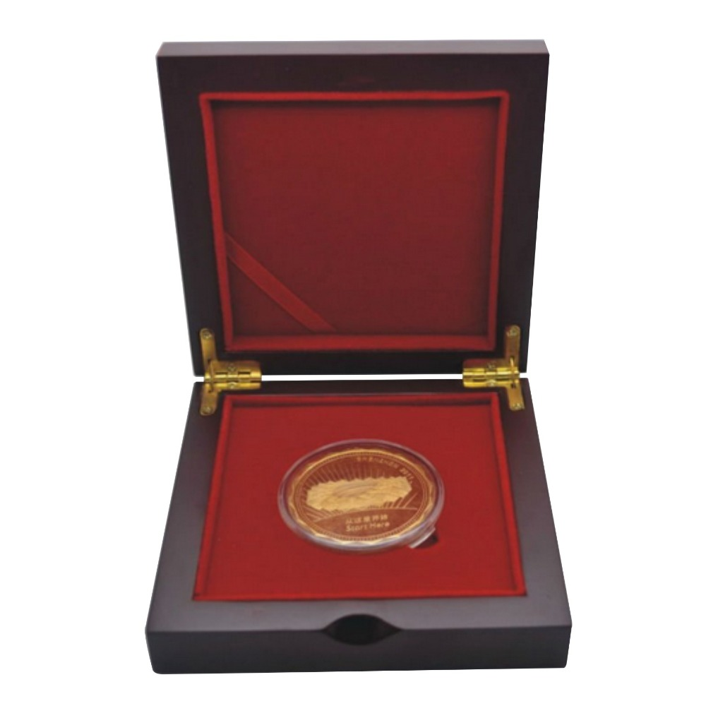 High Quality Medal Box Wooden Jewelry Box Wooden Coin Box