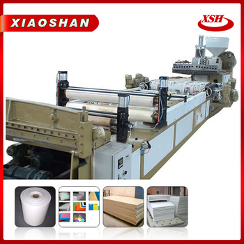 High performances at low rpm pp plastic sheet machinery