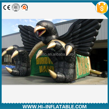 lifely Eagle Head inflatable cartoon tunnels with factory price /inflatable mascot tunnel/inflatable sport tunnel for football