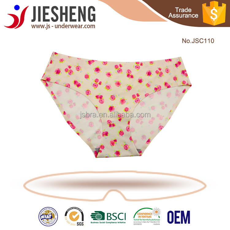 Sexy fancy ladies panty printing woman underwear