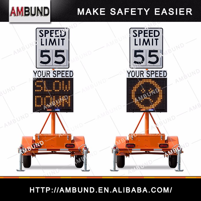 Compact Radar Speed Trailer Signs