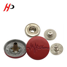 Custom gold covering decorative stud on clothes zinc press button snap