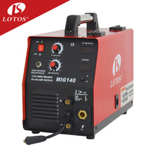 Lotos MIG140 china suppliers low cost igbt mig aluminium welder with wire feeder