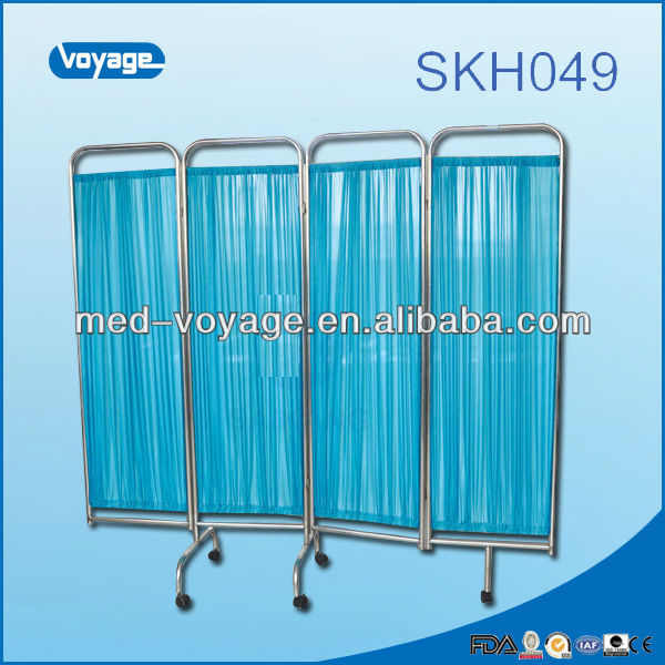 SKH049 Stainless steel hospital bed room divider folding screen