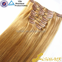 China Golden Supplier 100% Remy Human Hair Thick Cuticles Correct Long Lasting virgin hair clip in