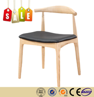 Restaurant chair leather cushion solid wood antique reproduction furniture on sale