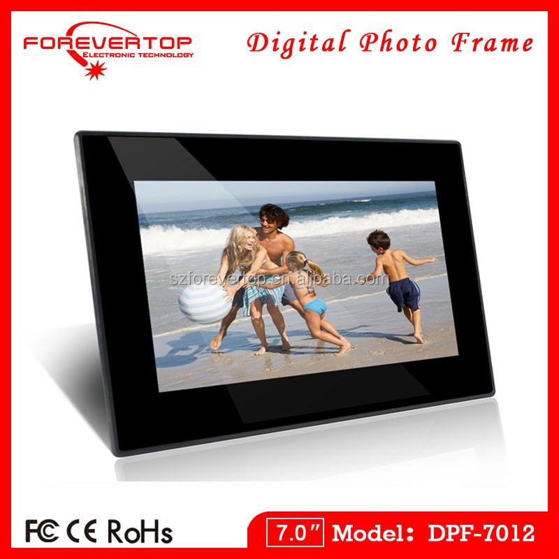 "ABS Frame Material and 7"" Size 7 inch digital photo frame"