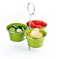 H1-0002H Chip and dip serving bowl set
