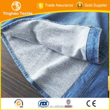 heavy bleach strench Indigo Jersey Knit Denim Fabric manufacturer