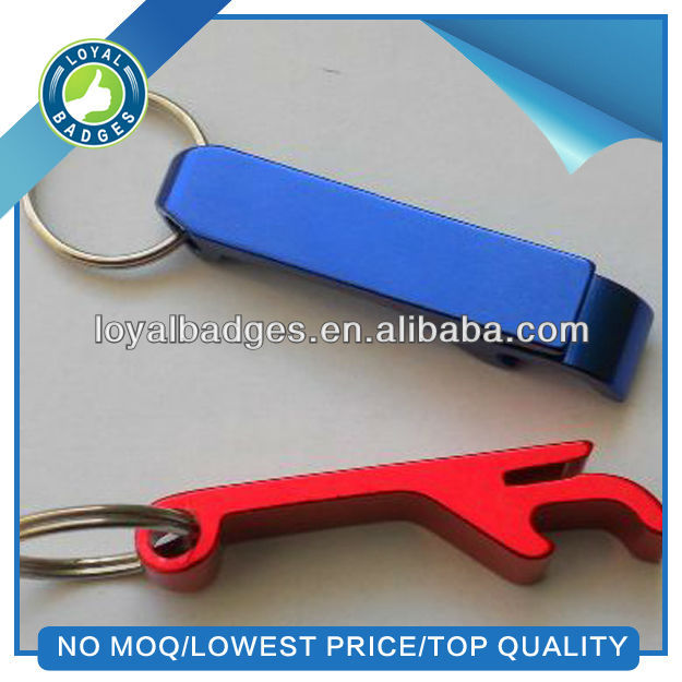 wholesale colorful metal key chain bottle opener