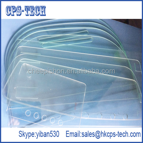 Custom optical properties tempered borosilicate glass for device