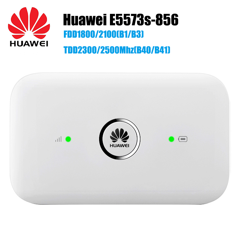 Unlocked Huawei E5573 E5573s-856 CAT4 150Mbps 4G LTE FDD 1800/2100MHz TDD 2500/2600MHz Wireless Router 3G Mobile WiFi Hotspot