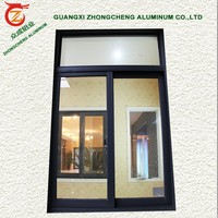 Aluminum glass sliding windows for house/cheap aluminium office sliding glass window/reception office interior sliding window