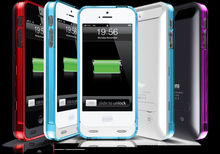 iFans Best selling 2400mah external backup battery case for iphone 5 5s with MFi
