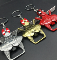 Marvel Hero X-Men Deadpool Or Customize Any Hero Beer Bottle Opener Beautifully Plated Alloy Keychain