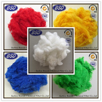 1.5D-20D polyester fiber waste PSF for fabric and textile