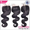 Fast shipping Soft lace body wave peruvian hair with closure