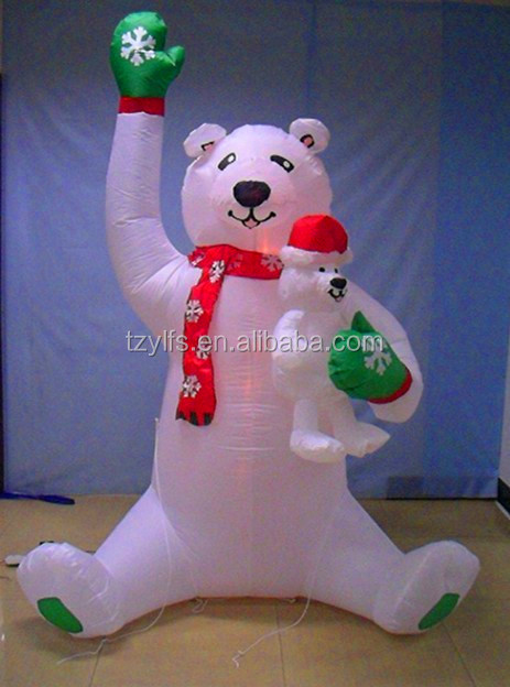 2014 gemmy inflatable merry christmas white bear/christmas decorations