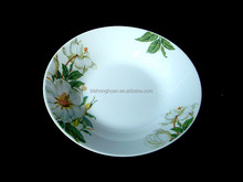 "7""with decaled porcelain soup plate"
