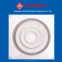 Round steel air conditioning removable ceiling diffusers with damper