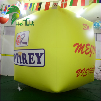 Best Printing Advertising Air Cube / Giant Outdoor Helium Square Balloons / PVC Cube Inflatable