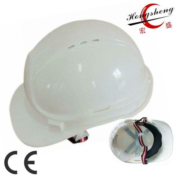 ABS shell and webbing harness ventilated hard hat with 6 vents