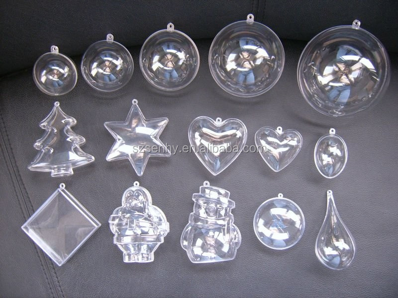 Christmas Decoration Supplies Small Clear Plastic Balls