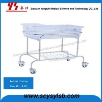 New Design Stainless Steel Mobile new born baby crib cot