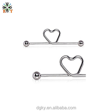 Twisted Love Heart Industrial Project Bar medical steel