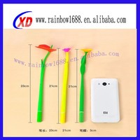 Promotional Silicone Four Leaf Clover Pen,Silicone Flower Pen