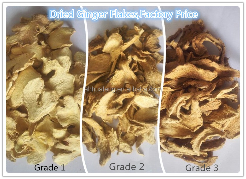 Hot Sale Dehydrated Ginger Slices Dried Split Ginger Factory Low Price